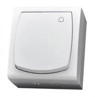 OSPEL MADERA Przycisk dzwonkowy natynkowy BIAŁY
