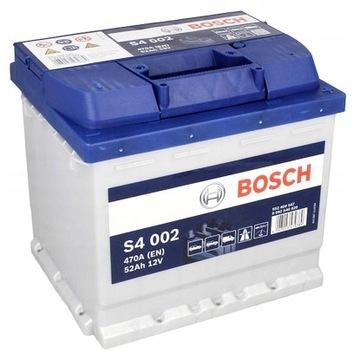 Аккумулятор bosch s4 52 ah 470a 52ah s4002 - фото 1