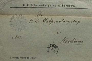 Z urzędu wolne od opłaty 1910 Koperta z obiegu p доставка товаров из Польши и Allegro на русском