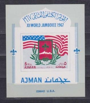 AT0607 Ajman Мне Блок 15 BY ** Всемирный Джамбори 1967 доставка товаров из Польши и Allegro на русском