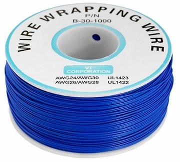 Кабель кабель KYNAR 0,24 мм (2м) синий (2526) доставка товаров из Польши и Allegro на русском