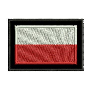 Полоса Флаг Польский 55x38mm с застежкой-липучкой доставка товаров из Польши и Allegro на русском