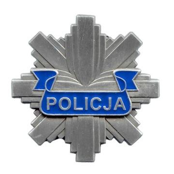 Полицейская БЛЯХА ЖЕСТЬ ПОЛИЦИИ ЗВЕЗДА 40 мм доставка товаров из Польши и Allegro на русском