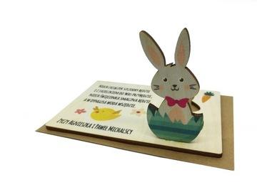 3D открытки на Пасху Пасха деревянный заяц  доставка товаров из Польши и Allegro на русском