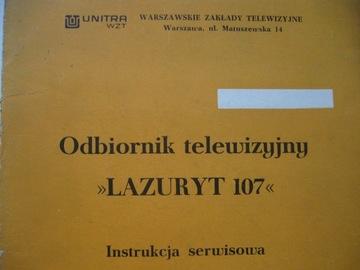 Телевизор LAZURYT 107 Руководство по обслуживанию Схема доставка товаров из Польши и Allegro на русском