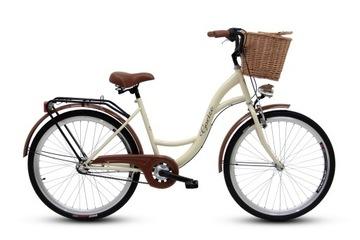 Damski rower miejski GOETZE 26 3biegi kosz gratis