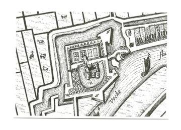 Pocztówka - XVII w. Atlas miast - J. Blaeu, fragm. доставка товаров из Польши и Allegro на русском