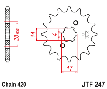 ZĘBATKA ПЕРЕДНЯЯ JT 13Z R. 420 C 50 84-06