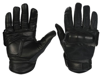 Taktické rukavice CQB kože Kevlar Black - M