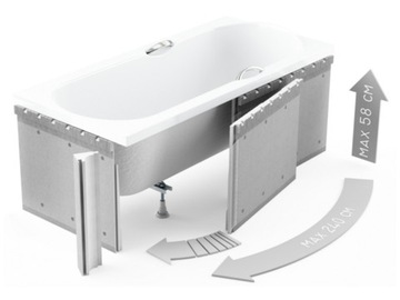 SCHEDPOL HOUSING BUILT-IN RECTANGULAR BATHTUB 1.041
