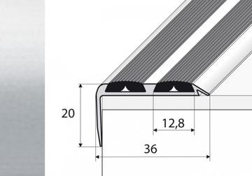 120cm schodisková protišmyková lišta SILVER A37N
