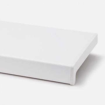 Vnútorný biely okenný parapet z PVC 25cm 250mm, komora