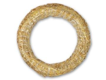Veniec, kruh, kruh, prírodný, slamený, 30 cm