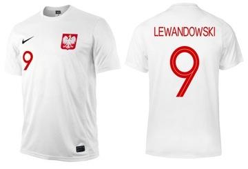 Nike Polska Lewandowski veľkosť tričko 158-170 cm
