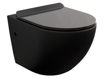 Mexen Lena Bowl WC Čierna Rimless Slim Board