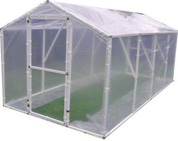 Záhradný skleník s fóliovým tunelom 2,1 x 400 8,4 m2 PL