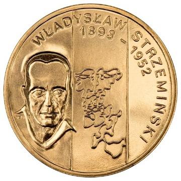 2 злотых монета Владислав Стшеминский