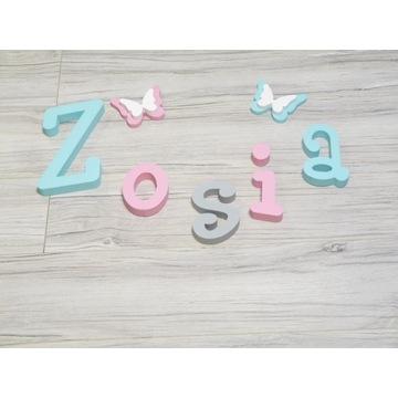 Imię dziecka literki 3D 2 dekory GRATIS