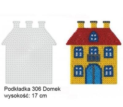 Hama 306 Podkładki do Koralików Hama Midi Dom