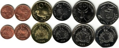 GAMBIA zestaw 6 monet