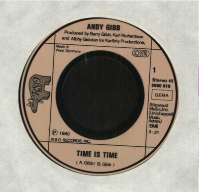 ANDY GIBB  - TIME IS TIME - I GO FOR YOU