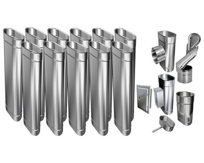 Kotol - 1mm VLOŽKA KOMÍNA 100x160 FIREPLACER 12m