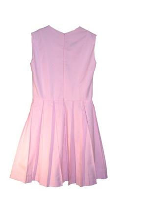Sukienka Zakładkowy Cud Róż 44 dla Wysokich Kobiet