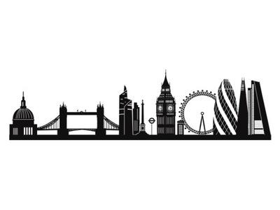 Naklejka dekoracyjna, Londyn, Big Ben, London Eye