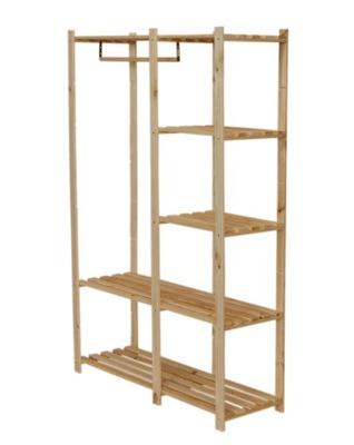 Стеллаж деревянный гардероб RG-5 шкаф одежды XL