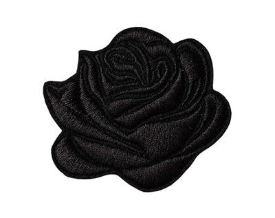Полоса ?????????? Заплатка термо роза черная ЦВЕТОК