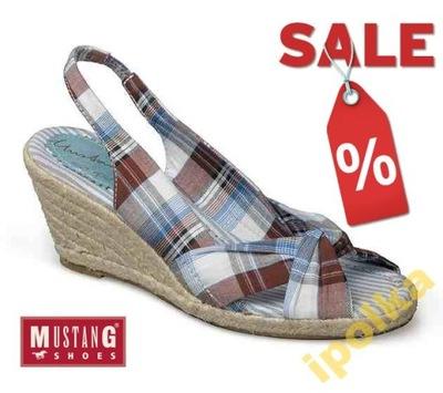 buty letnie sandały damskie mustang r.39