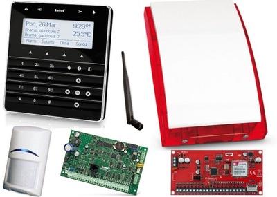SATEL INTEGRA 32 DOTYKOVÝ LCD GSM SMS + 6x BOSCH