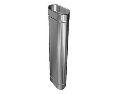 Príspevok POTRUBIA 1 OVÁLNE 110x210 mm 1m NEHRDZAVEJÚCEJ ocele LACNÝ