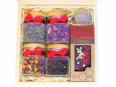 комплект с Herbatami В Деревянной Коробке НА подарок