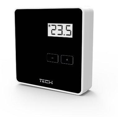 Podlahové vykurovanie - Regulátor teploty WIRE čierny TECH ST-294V1