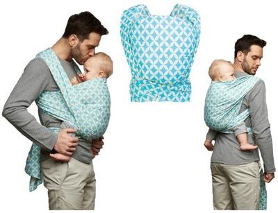 Šatky, šály na nosenie detí - WOMAR uzatvárateľná šálka N17 BE CLOSE ZAFFIRO 0-13kg