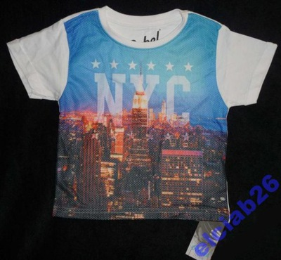 REBEL  MODNY T-SHIRT NYC  4-5lat