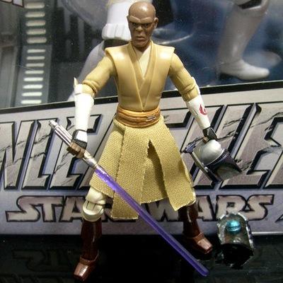 FIGURKA star wars Jedi master MACE WIND clone wars
