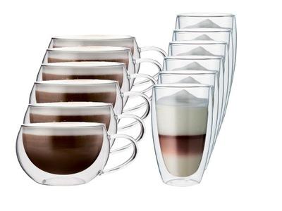Стаканы термостойкие кофе Капучино и Латте 12 штук