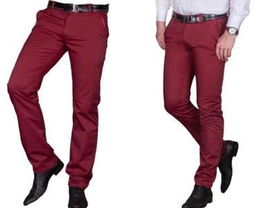 Spodnie wizytowe bordo 1710 fashionmen2 r. 42