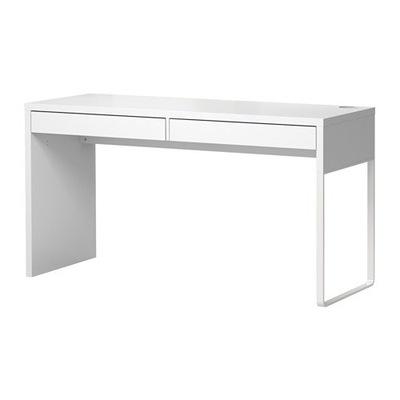 Икеа МИККЕ письменный стол 2 ящик 142x75x50 - Белый