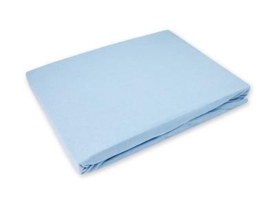 Podložka na matrac - Nieprzemakalne Prześcieradło 140x200 Jersey Niebie