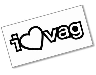 I LOVE VAG - Naklejka 10cm - kocham volkswagen ger