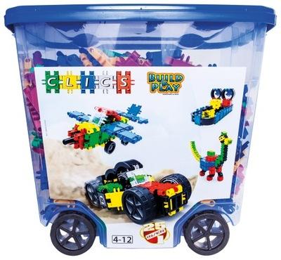 Klik-klak stavebnica pre deti - CLICS PL Bricks Belgicko CB803 Rollerbox 25w1 750el.