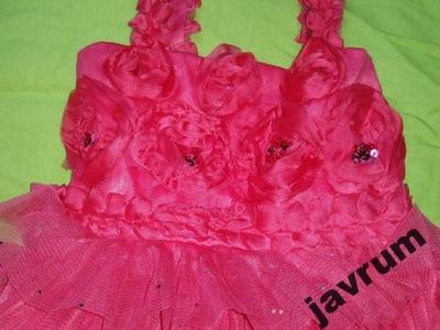 sukieneczka falbanki cekiny rozm.92 śliczna