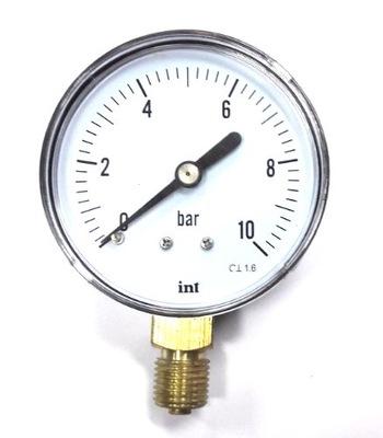 """Bočný tlakomer 10 bar 63 mm 1/4 """"m012"""
