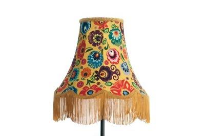 Farebné tienidlo lampy na čítanie vzor ŁOWICKI