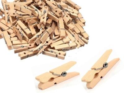 мини зажимы СКРЕПКИ деревянные 20 штук Природный