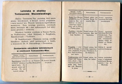 TOMASZÓW MAZOWIECKI : przewodnik plan mapka : 1935