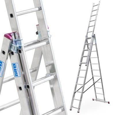 Лестница алюминиевая 3x11 Краузе CORDA выс.роб. 7 ,25